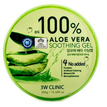 Гель Aloe Vera Soothing Gel 100% 3W Clinic 300 мл