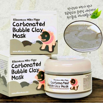 Маска для лица Elizavecca Milky Piggy Carbonated Bubble Clay Mask 100г