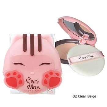 TONYMOLY Cats Wink Clear Pact матирующая пудра 11г